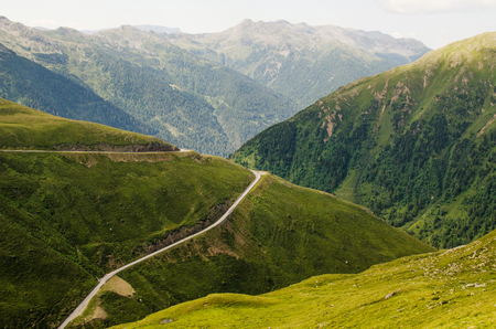 A road in the hills of Alto Adige Stock Photo
