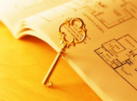 key and floor plan Фото со стока - 20171565