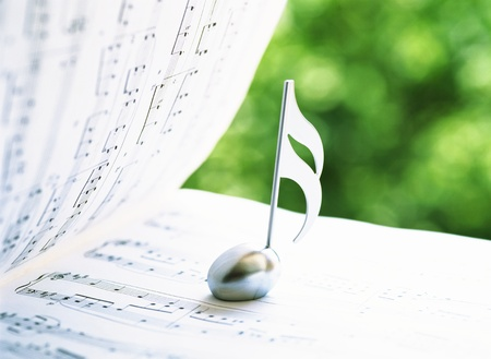 music score Фото со стока - 20308269