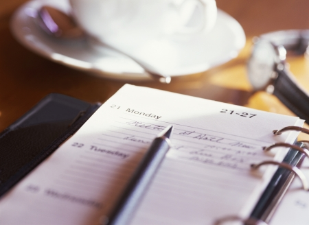 notebook and coffee Фото со стока - 21071374