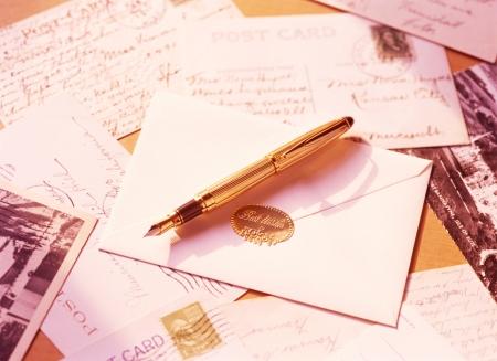 fountain pen and letter Zdjęcie Seryjne
