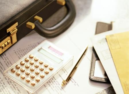 attache case: attache case and calculator