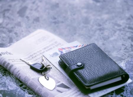 key and newspaper