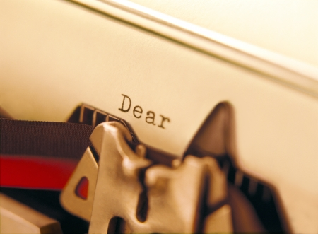 typewriter and letter photo