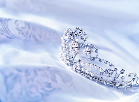 dressing up costume: tiara Stock Photo
