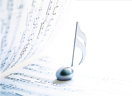 music score and  clef