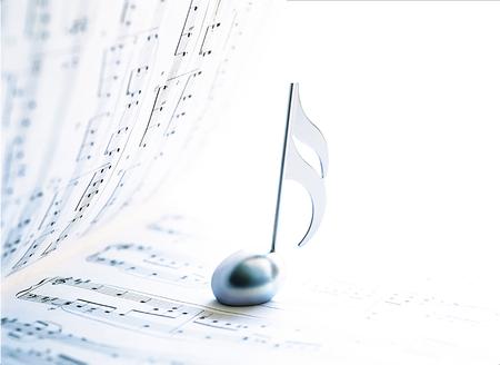 partition musique: partition et clef Banque d'images