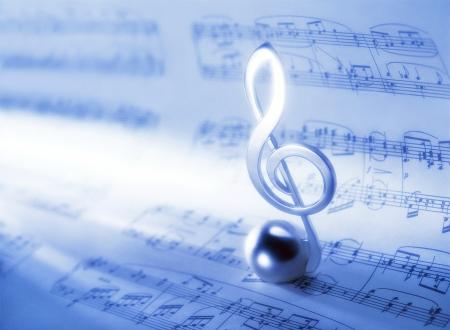 music score: music score and  clef