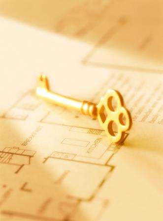 key and drawings Фото со стока - 25670779