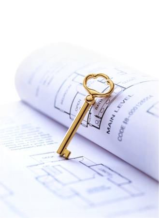 key and drawing Фото со стока - 25932511