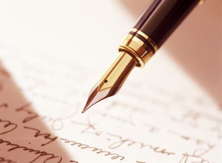 fountain pen and document Фото со стока - 25932331