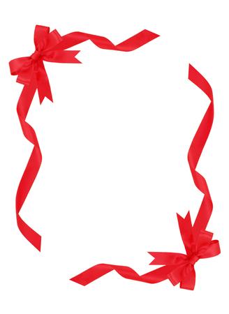 Frame of red ribbon Фото со стока - 35959459