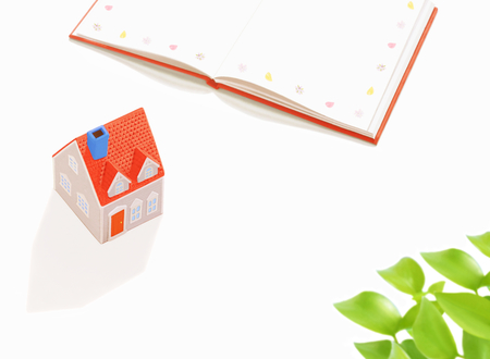 dollhouse: Model house and Book Stock Photo