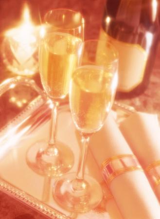 servilleta de papel: champán y servilleta