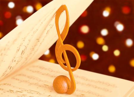 partition musique: cl� de sol et le score de la musique Banque d'images