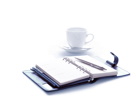 personal organizer: personal organizer and coffee