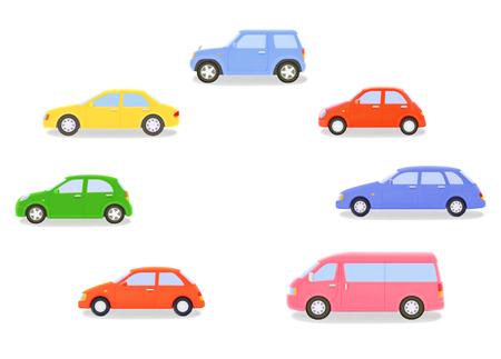 Cars of plasticine Фото со стока