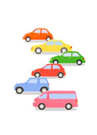 plasticine: Cars of plasticine Stock Photo