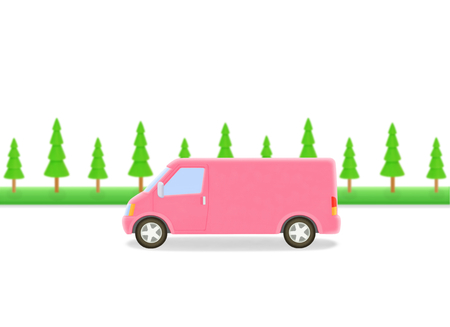 truck and trees