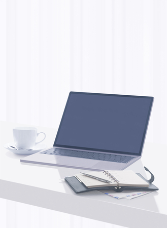 computer and notebook