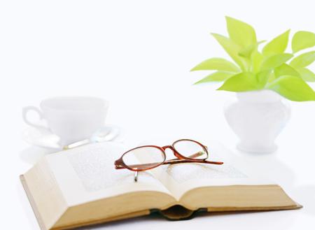 book and glasses  and coffee Фото со стока - 112824135
