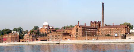 jailhouse: Historical prison Crosses (Kresti)  in Saint Petersburg, view from river Neva