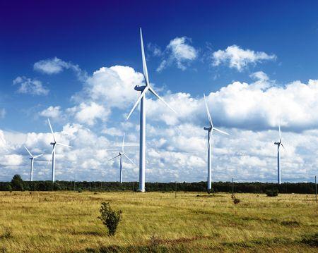renewed: Wind power stations, Paldiski, Peninsula Pakri, Estonia