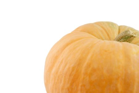 pumpkin fall and halloween background isolated on white photo