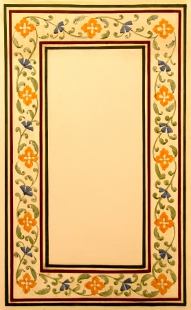 bordure vigne: branche de vigne fronti�re sur ton beige