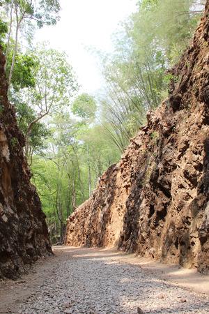prisoner of war: Way of Hellfire Pass, railway cutting by prisoner of war Kanchanaburi, Thailand