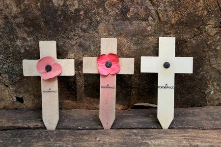 prisoner of war: Three cross memorial to prisoner of war at  Hellfire Pass, Kanchanaburi, Thailand