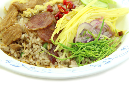 Rice Mixed with Shrimp paste close up photo
