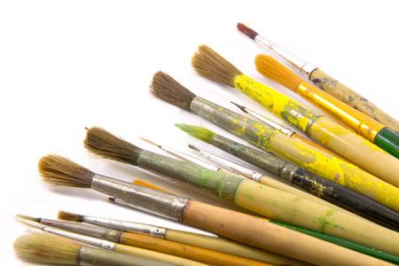 Paint brushes set on white background Stock Photo - 30532014