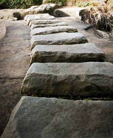 arrange: Stone arrange for walkway Stock Photo