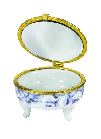 Vintage ceramic casket is open Zdjęcie Seryjne