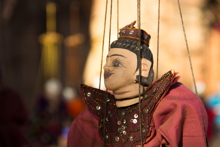 One Myanmar tradition puppet hanging