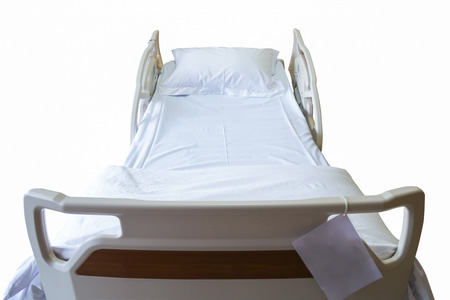 Automatic patient bed, medical equipment with clipping path Stock Photo