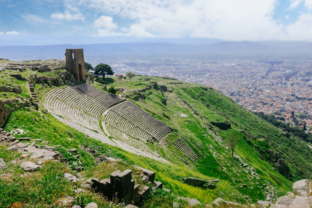 Roman amphitheatre (amphitheater) in Pergamum (Pergamon), Turkey