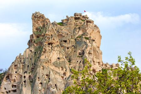 Uchisar valley cave towns. Cappadocia, Turkey.