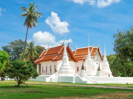 Wat Uposatharam, Buddhist temple at Uthai Thani province, Thailand. Banco de Imagens