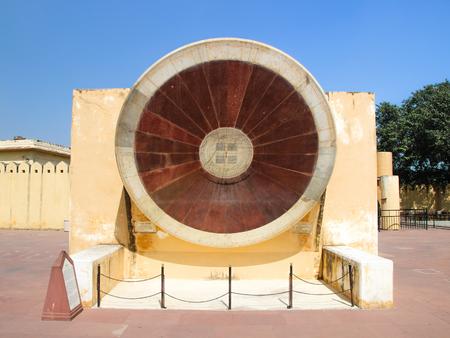 Jaipur, India - October 21 2013: Astronomical instrument at Jantar Mantar observatory, Jaipur, Rajasthan, India