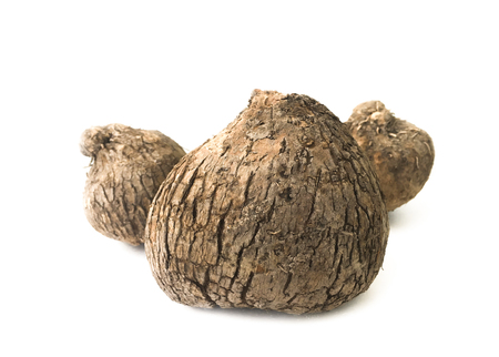 Dioscorea alata or yam isolated on white background
