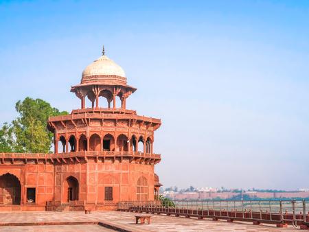 The fortress at Taj Mahal, Agra, Uttar Pradesh, India,