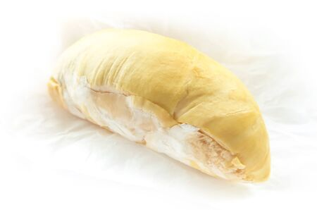Durian, King of fruits in thailand on white background Stock Photo