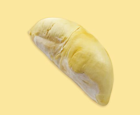 Durian, King of fruits in thailand on yellow background