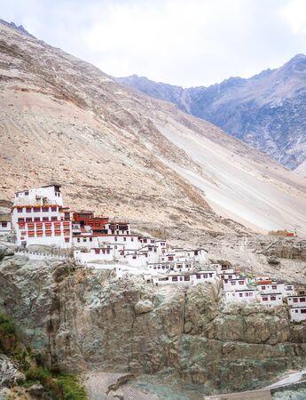 Diskit Monastery on himalaya mountain, Nubra Valley, Ladakh, India.