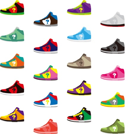 Sports shoes has a variety of colors