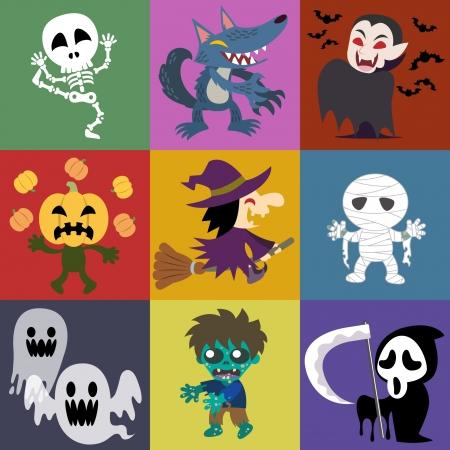 Una variedad de funciones de Halloween Foto de archivo - 19728899