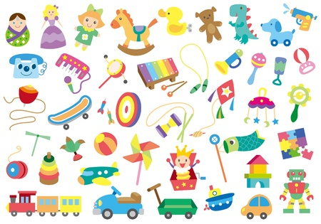 A variety of children's toys Vector