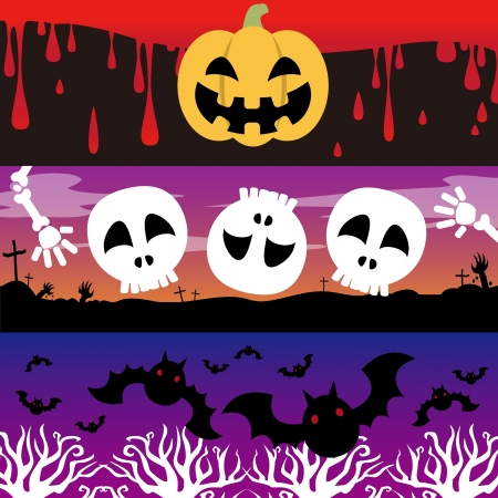 blood,lantern,cemetery,bat ,forest,skull and crossbones Vector